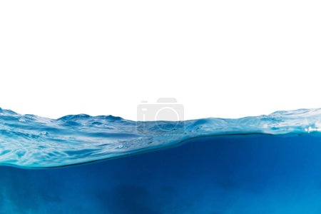 Photo for Water wave isolated on white background. Abstract background with free space for text - Royalty Free Image