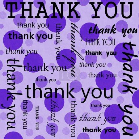 Photo pour Merci Design avec pois carreaux modèle répéter fond violet qui est transparente et se répète - image libre de droit