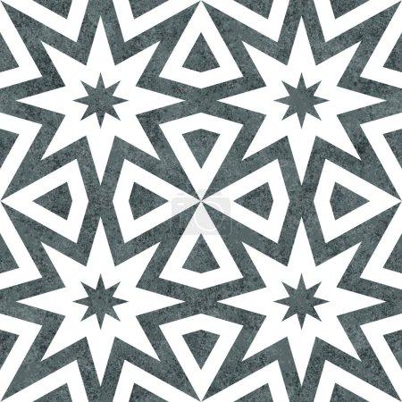 Photo pour Gris rafale abstraite géométrique sans couture et répéter motif texturé arrière-plan - image libre de droit