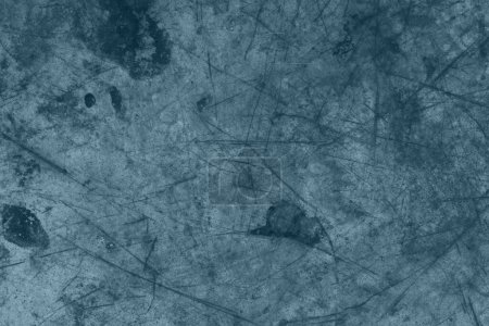 Photo for Blue distressed metal grunge textured material background with copy space for message or use as a texture - Royalty Free Image