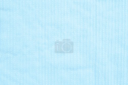 Photo for Pale blue plush lined fabric background with copy space for message or use as a texture - Royalty Free Image