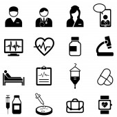 Medical healthcare and health web icon set