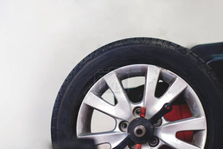 Photo for Tire Replacement concept. Garage' Tools and Equipment. Car Maintenance and services - Royalty Free Image
