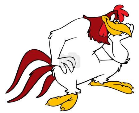 Photo pour Foghorn Leghorn Looney Tunes personnage cartoon illustration la pensée - image libre de droit