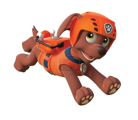 Paw patrol zuma labrador puppy character  illustra...