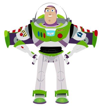 Photo pour Buzz Lightyear toy story ailes illustration cartoon - image libre de droit