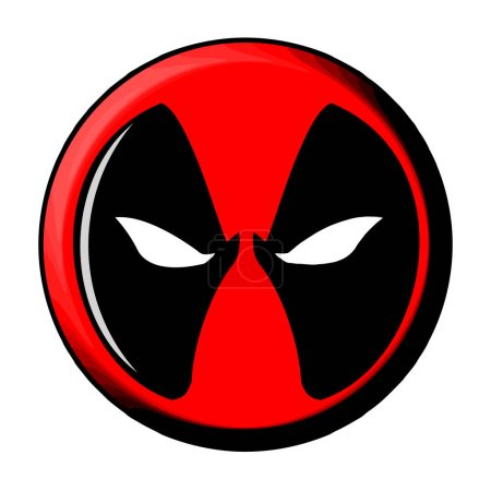 deadpool character face mask superhero
