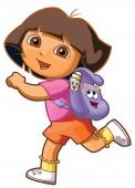 dora the explorer going school backpack illustration