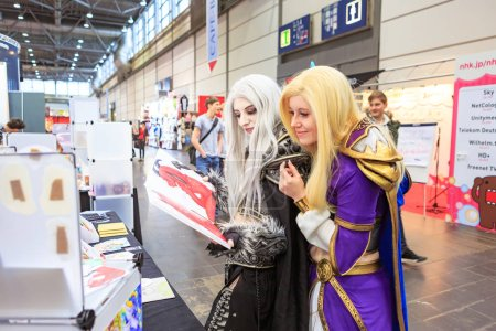 LEIPZIG, GERMANY - MARCH 16, 2018: The Manga-Comic-Convention at the book fair Leipziger Buchmesse 2018 in Leipzig, Germany