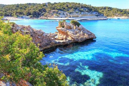 The Portals Vells bay on Mallorca Island, the Balearic Islands in the Mediterranean Sea, Spain