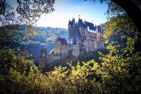 The Eltz Castle, a medieval castle in the hills above the Moselle River between Koblenz and Trier, Germany.
