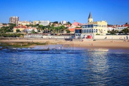 ESTORIL, PORTUGAL - CIRCA OCTOBER, 2016:  The Praia do Tamariz beach in Estoril- Cascais, Portugal