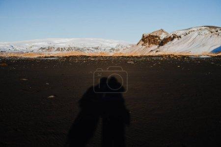 Photo pour Coucher de soleil à Reinsfjara Beach, Islande - image libre de droit