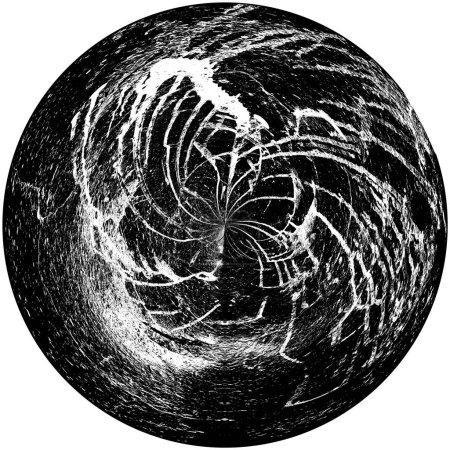Photo pour Vieux grunge monochrome noir et blanc vintage fond altéré texture antique abstraite avec motif rétro - image libre de droit