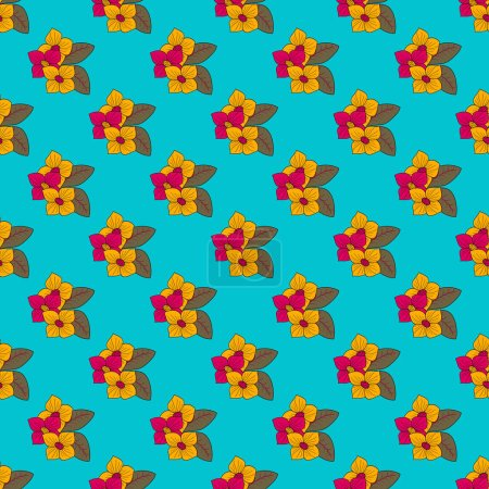 Illustration for Decorative floral background. Seamless vector illustration - Royalty Free Image