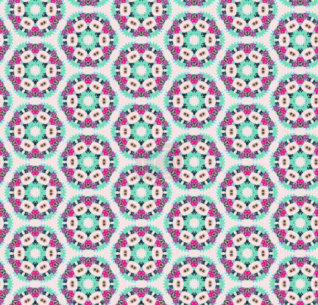 Illustration for Abstract seamless pattern design composition. Wallpaper, background. Eps 10 - Royalty Free Image