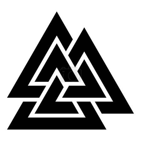 Valknut sign symblol icon black color vector illus...