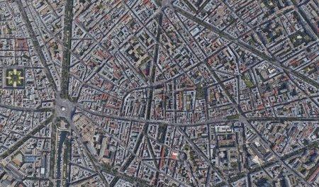 Photo pour Texture de vue satellite Éléments de cette image fournis par la Nasa - image libre de droit