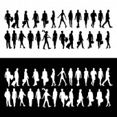 set of business people silhoutte - logo design vector