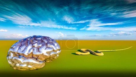 Photo pour Snake and Mind - concept créatif - image libre de droit