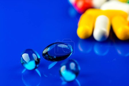 Photo for Close up of colorful pills for treatment. - Royalty Free Image
