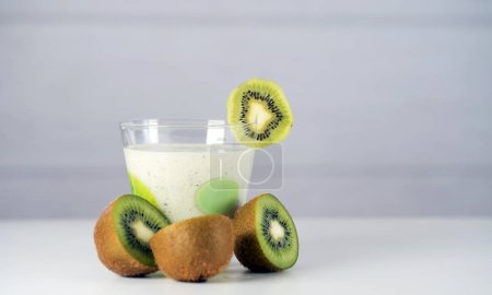 Photo for Smoothie with kiwi. Healthy eating concept. - Royalty Free Image