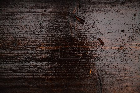 abstract wet brown wood texture, close-up