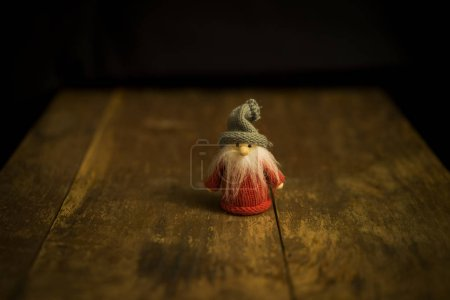 Small gnome figure on the table