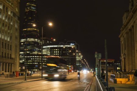 Photo for View of city lighting at nighttime - Royalty Free Image