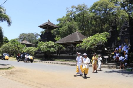 Photo for Visitors of Lempuyang temple in Indonesia - Royalty Free Image