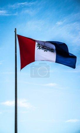 Photo pour Les drapeaux brésiliens se rapprochent - image libre de droit