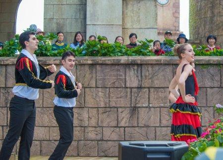 Photo for People at the show at Sunworld Ba Na Hills Park in Vietnam, Da Nang. - Royalty Free Image