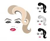Marilyn Monroe graphic portrait logo sign icon emblem symbol Isolated image