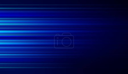 Photo for Blue lights for futuristic internet and business concept, movement motion blurry technology background. 3d illustration. - Royalty Free Image