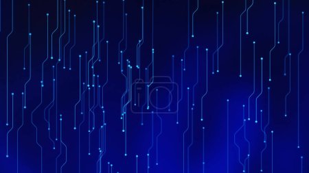 Photo for Circuit board. High-tech technology background. 3d abstract illustration. - Royalty Free Image