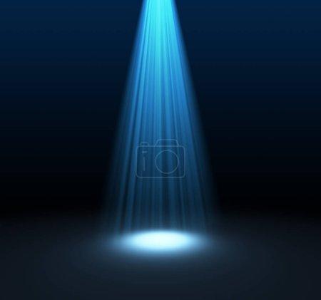 Photo pour Projecteur bleu isolé sur fond noir dans le concept de la technologie, illustration. - image libre de droit