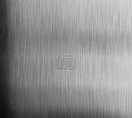 Photo pour En acier inoxydable de délié. Papier brillant, argent bronze ou cuivre metal texture de surface de modèle. Gros plan du matériau intérieur pour fond de décor design - image libre de droit