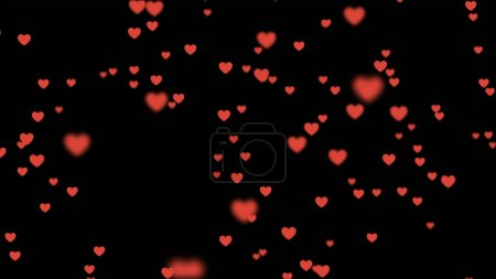 Photo for Many red hearts on white background for celebration event and Valentine day, Birthday party, wedding or any holiday. 3d abstract Illustration - Royalty Free Image