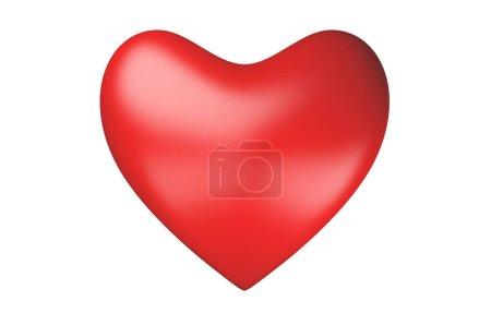Photo pour Coeur rouge isolé sur fond blanc pour la Saint-Valentin ou de cérémonie de mariage dans le symbole de l'amour. signe 3D abstract illustration. - image libre de droit