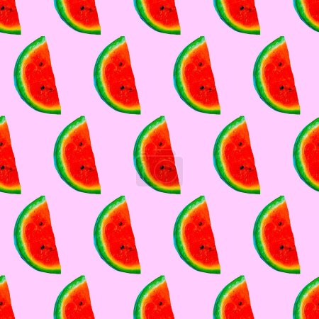 Seamless fashion pattern. Watermelon background. Use for invitations, greeting cards, wrapping paper, posters, fabric print.