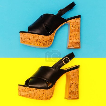 Shoes heel. Sandals for Lady. Summer look
