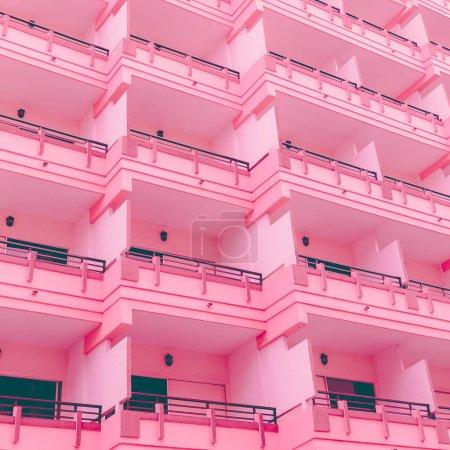 Photo pour L'hôtel. Vibrations minimes roses - image libre de droit