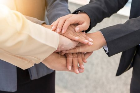Photo for Business People Joining Hands, Success Teamwork and Partnership Concept. - Royalty Free Image