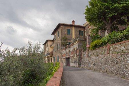 Photo for Italy, Montecatini Alto - April 25 2017: the view of typical street of Montecatini Alto on April 25 2017 in  Tuscany, Italy. - Royalty Free Image