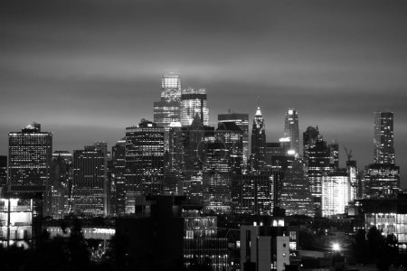 Photo pour La ville de New York, lower Manhattan, quartier financier, Usa. BW - image libre de droit