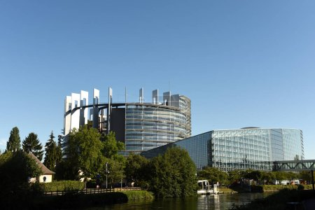 Photo for Strasbourg, France - September 4, 2019:The European Parliament building in Strasbourg, France. - Royalty Free Image