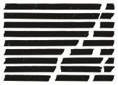 Masking Tape Black Grunge Set 02