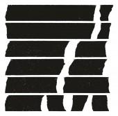 Masking Tape Black Grunge Set 03