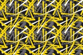 abstract chaotic geometric seamless pattern