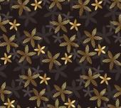Luxury geometric vanilla flower seamless pattern